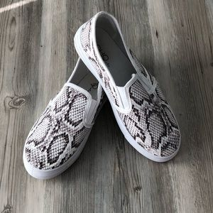 Snake Skin Patterned Slip-Ons
